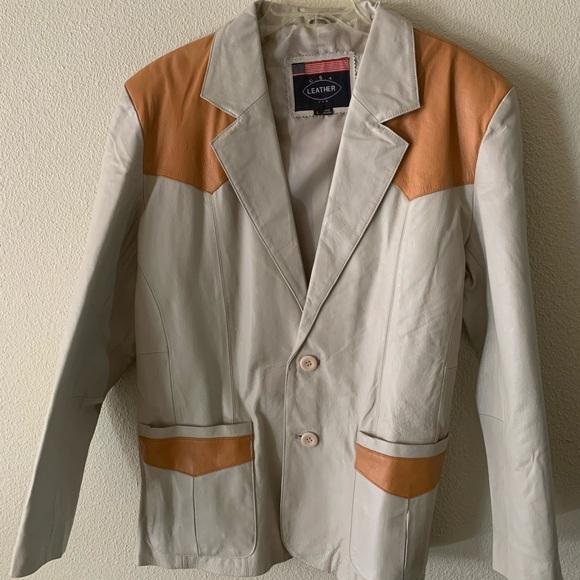 USA Other - Vintage Western Blazer Leather Skin Coat